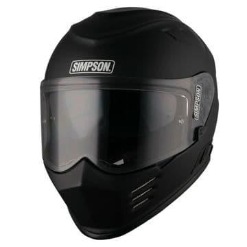 Simpson Venom Solid Light Weight Motorcycle Motorbike Helmet - Matt Black